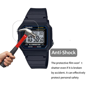 Image 4 - 3Pcs PET Nano Explosion proof Film For Casio W 217 W217 Smartwatch Screen Protector LCD Anti shock HD Clear Guard Film Not Glass