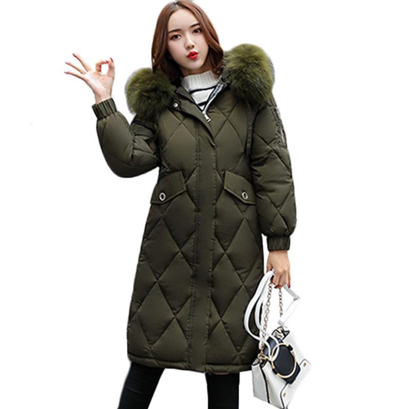 2019 New Fashion Slim Women Winter Jacket Cotton Padded Warm Thicken Ladies Coat Hooded Long Coats Parka Womens Jackets