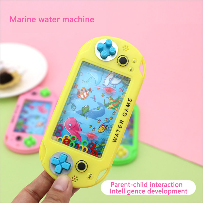 Children's Handheld Game Console Marine Ferrule Creative Cartoon, Puzzle Thinking Ability Toy Water Ring Children's Toy Gift