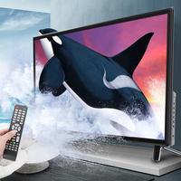 32 inch hd lcd smart tv ultra-narrow bezel artificial intelligence voice tv supports usb hdmi rf antenna input 110-240v black