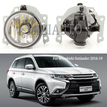 MIZIAUTO LED Car Front fog lights for Mitsubishi Outlander 2016 2017 2018 2019 with bulb Car Styling accessories FOG LIGHT image