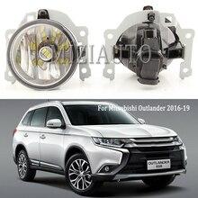 MIZIAUTO LED araba ön sis farları Mitsubishi Outlander 2016 2017 için 2018 2019 ampul araba Styling aksesuarları sis lambası