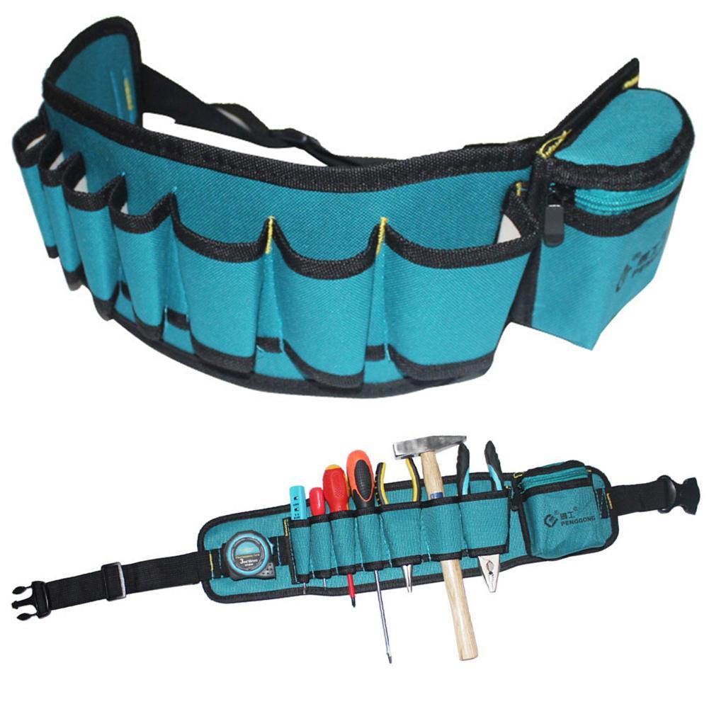 Tool Bag Multi-pockets Tool Bag Waist Pockets Electrician Oganizer Carrying Pouch Tools Bag Belt Waist Pocket Case