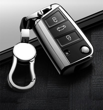 Hight quality PC + TPU key case cover Key case protective shell holder for VW New Passat Lavida Tiguan Car Holder Shell