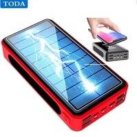 Banco de energía Solar de 80000mAh, gran capacidad de carga de teléfono, batería externa, cargador rápido de teléfono para Xiaomi, IPhone, Samsung