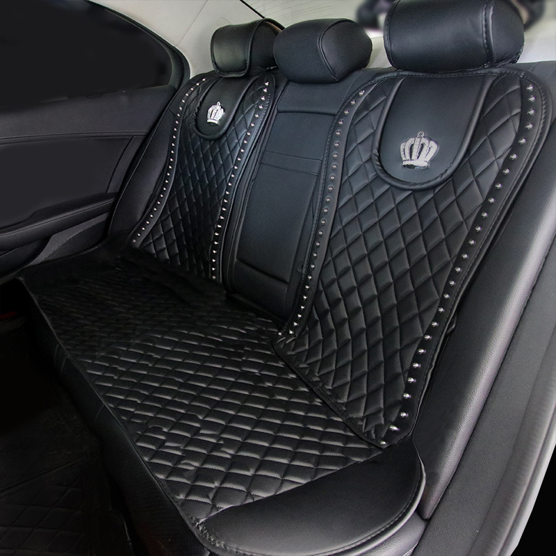 Leather-Car-Seat-Cover-Crystal-Crown-Rivets-Auto-Seat-Cushion-Interior-Accessories-Universal-Front-Back-Seats