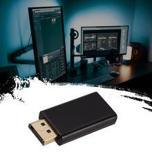 2021 черный Дисплей Порты и разъёмы для H-DMI Мужской Женский адаптер конвертер Дисплей Порты и разъёмы DP to H-DMI 1080P Plug and Play для ПК HDTV