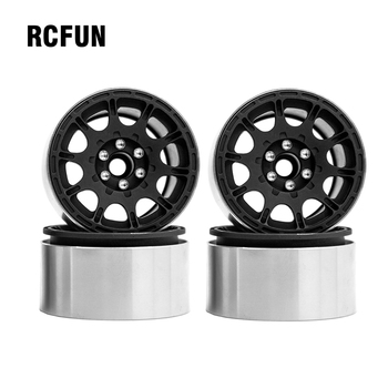 RC 4PCS 1/10 RC Rock Crawler Aluminum 2.2 Beadlock Wheel Rims for Axial SCX10 RR10 Wraith 90048 90018  TRX4 TRX-6 yfan 4pcs d1rc 1 8 super grip rc crawler 3 2 inch rc thick wheel tires with sponge for 1 8 rc crawler and 1 10 axial km2 wraith