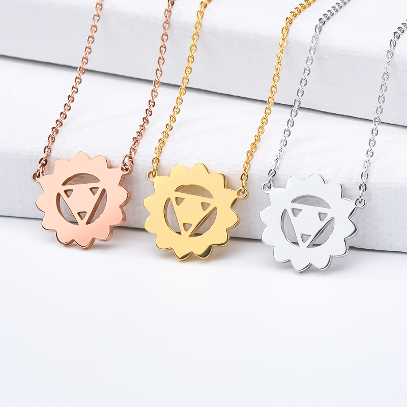 2019 new necklace sun necklace gold silver rose gold round necklace stainless steel woman jewelry birthday gift couple gift in Chain Necklaces from Jewelry Accessories