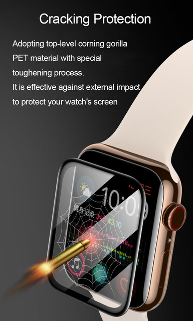 PET + PMMA waterproof screen protector for apple watch 5 4 3 38MM 40MM 44MM 42MM Not Tempered soft glass film for Iwatch 4/5 2