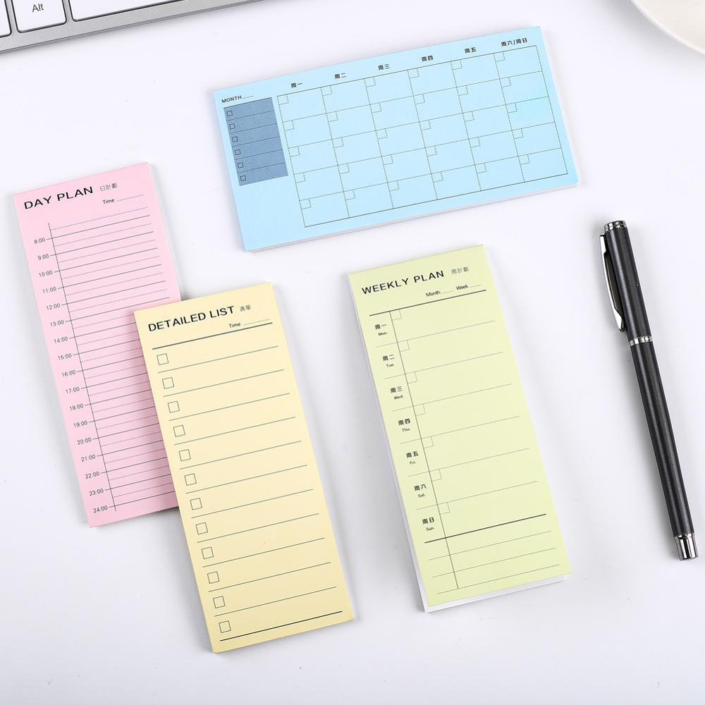 Korean Memo Pad Notepad Sticky Note Daily Monthly Weekly Memopad Stationary Office Decor To Do Listing Shopping Check Checklist