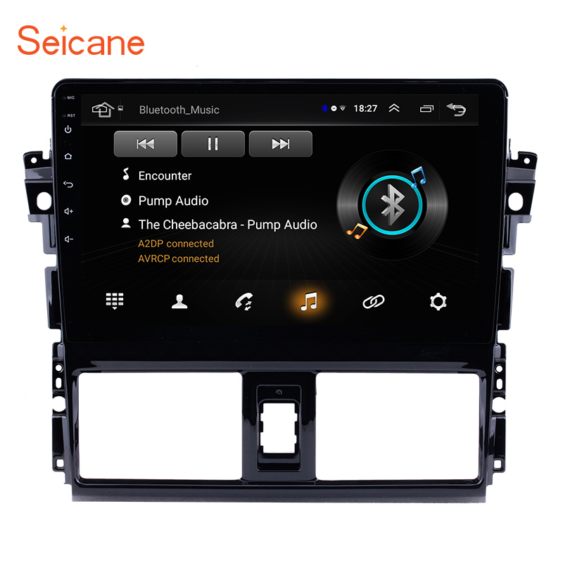 Seicane 2Din Android 8.1 10.1 Car GPS Auto Radio Multimedia Player Head Unit For 2013 2016 Toyota Vios Mirror link Support DVR