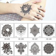 Временные тату наклейки для рук 5 шт/компл мандала цветы водостойкие