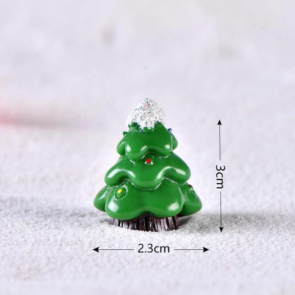 Dễ Thương Nhựa Mini Giáng Sinh Ông Già Noel Cây Người Tuyết Đồ Trang Trí Mini Tượng Hình DIY Cổ Tích Hàng Thủ Công Xmas Mùa Đông Chậu Trang Trí