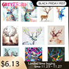 GATYZTORY Frame DIY Painting By Numbers Kits Deer Animal Picture By Numbers For Adults Modern Wall Art Decors Handpainted Gift
