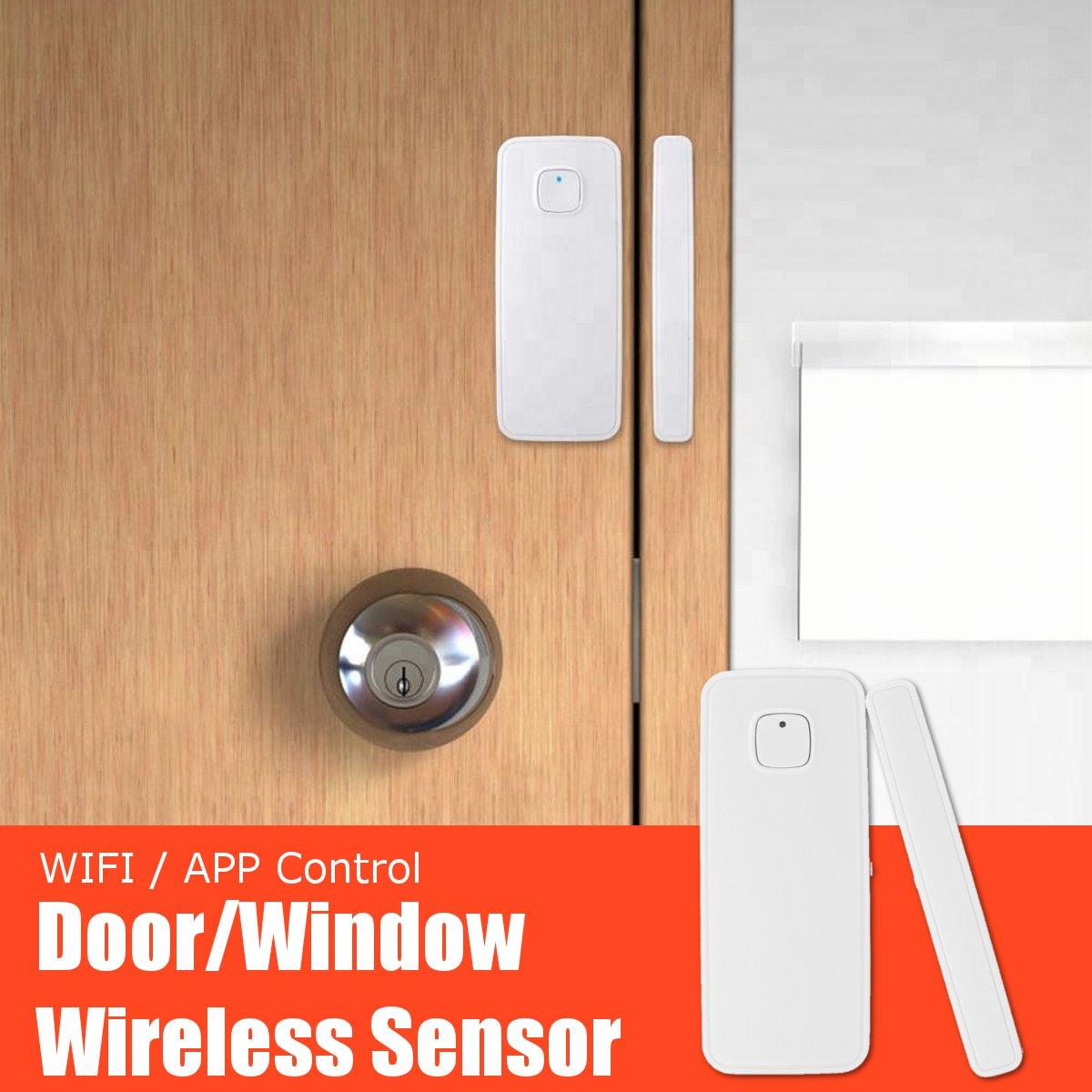 WiFi Smart Door Window Sensor Alarm Kit APP Control Remote Magnetic Detector Home Office Door Window Alarm Security System Set-in Sensor & Detector from Security & Protection
