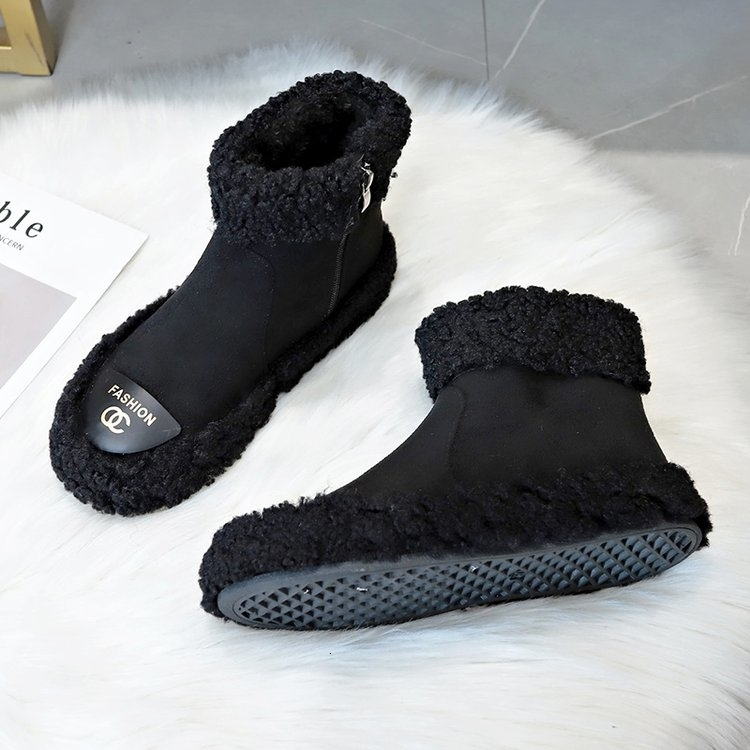 Women Boots 2019 New Plush Snow Boots For Winter Shoes Women Casual Lightweight Ankle Botas Mujer Warm Winter Boots Female 70