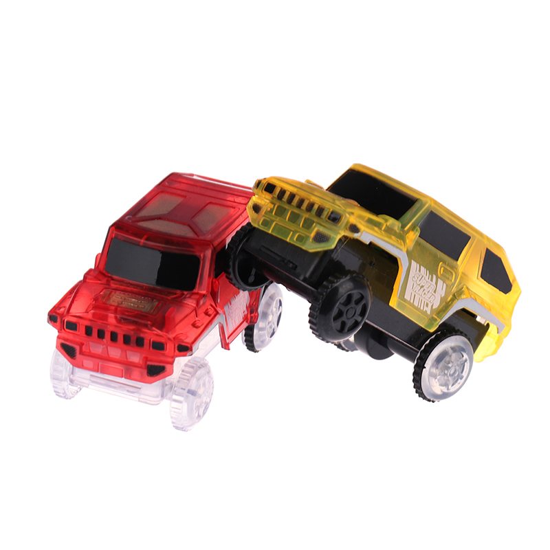 Electronics Special Car For Magic Track Toys With Flashing Lights Educational Kid Railway Luminous Machine Car Brinquedos