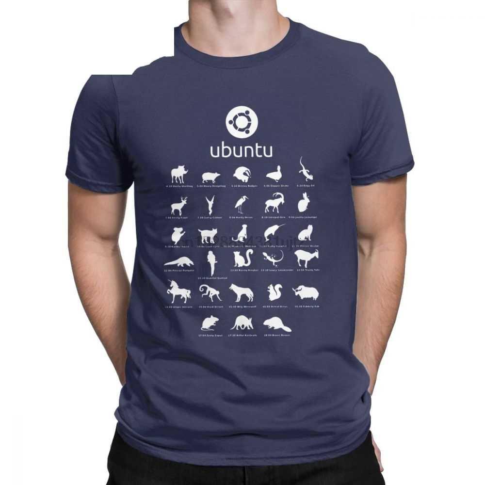 Drôle Ubuntu Linux sort des T-Shirts pour hommes col rond coton t-shirt Distro Linux Debian manches courtes T-Shirts imprimés vêtements