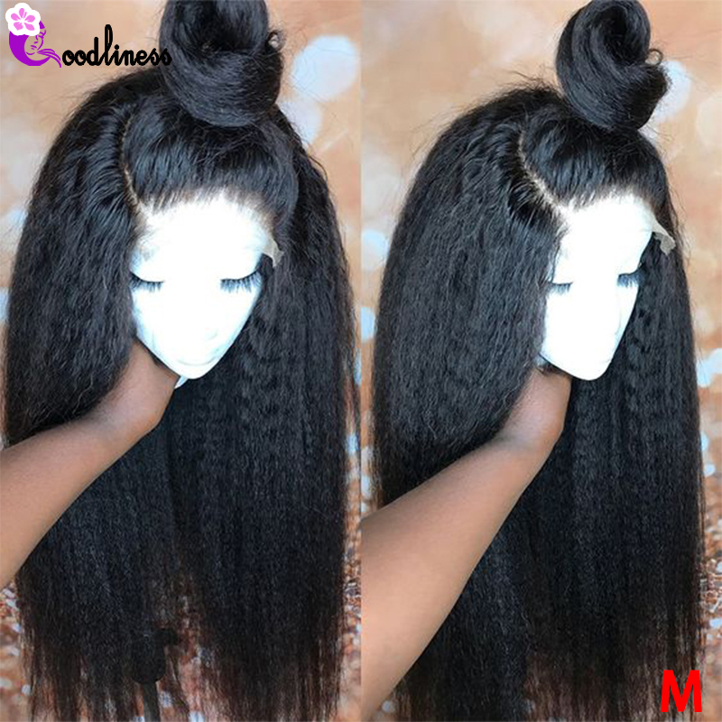 Transparent Lace Wigs 6x6 Lace Closure Wig For Black Women Brazilian Kinky Straight Lace Front Wig Human Hair Wigs 150% Remy
