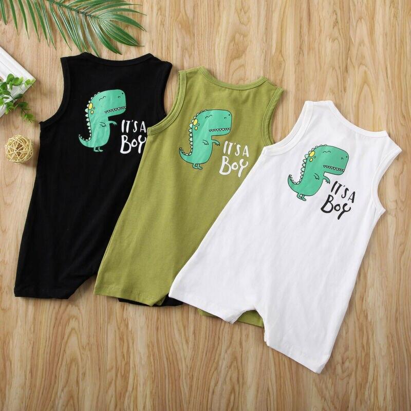 Newborn Baby Boy Girl Romper Bodysuit Jumpsuit Dinosaur Summer Clothes Outfits