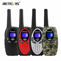 Retevis RT628 Walkie Talkie Children 2pcs PMR PMR446 Four Colors 0.5W Children's radio Birthday Gift Walkie-talkie For Children