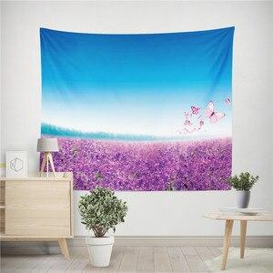 Image 3 - Lavanta çiçeği goblen lavanta baskılı dekoratif Mandala duvar asılı halılar halı battaniye plaj havlusu masa örtüsü