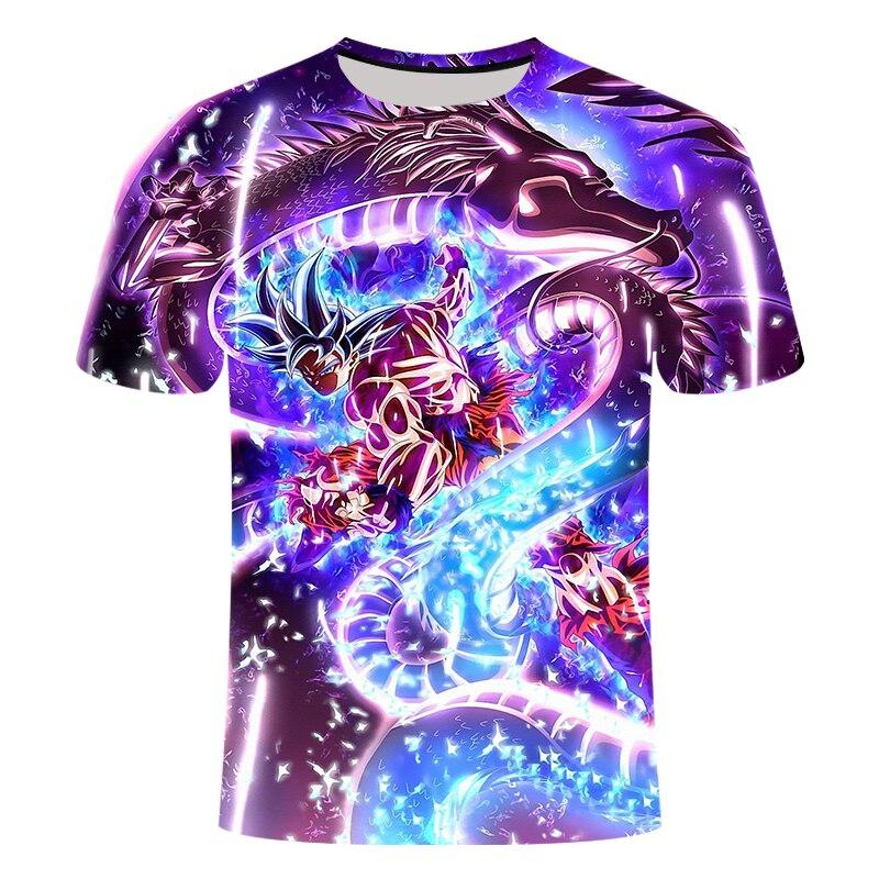 2019 New Dragon Ball Z T Shirts Mens Summer 3D Print Super Saiyan Goku Black Zamasu Vegeta Dragonball Casual Tee Shirt Tops Tee