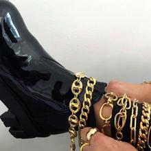 4 шт/лот аксессуары для обуви на массивной цепочке высоком каблуке