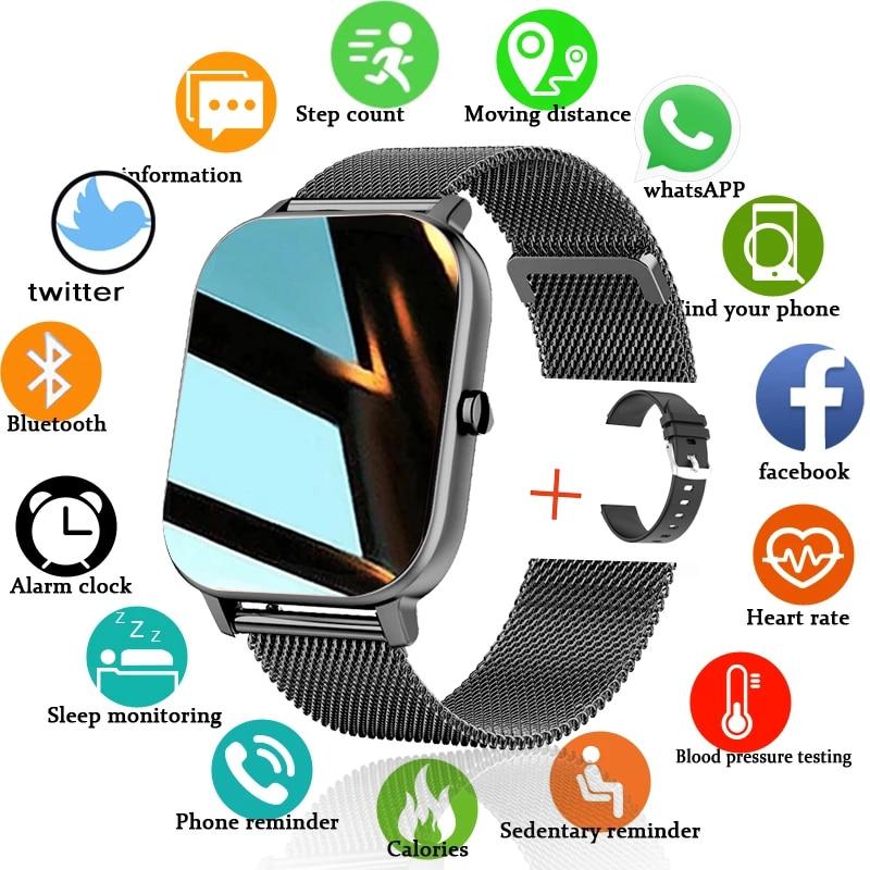 2021 New P8 Color Screen Smart Watch Women men Full Touch Fitness Tracker Blood Pressure Smart Innrech Market.com