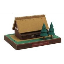 Японская елочка на крыше 3D бумажная модель всемирно известная архитектурная модель трехмерная обучающая Коллекция игрушек ручной работы