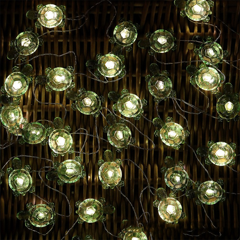 Turtle Decorative String Lights Weatherproof Battery Operated Turtle Fairy Lights for Holiday Weddings Bedroom
