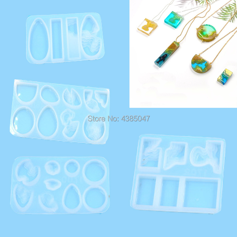 1PC Ireland Beach Shaped Pendant DIY Silicone Mold Dried Flower Jewelry Accessories Tools Equipments Resin Molds