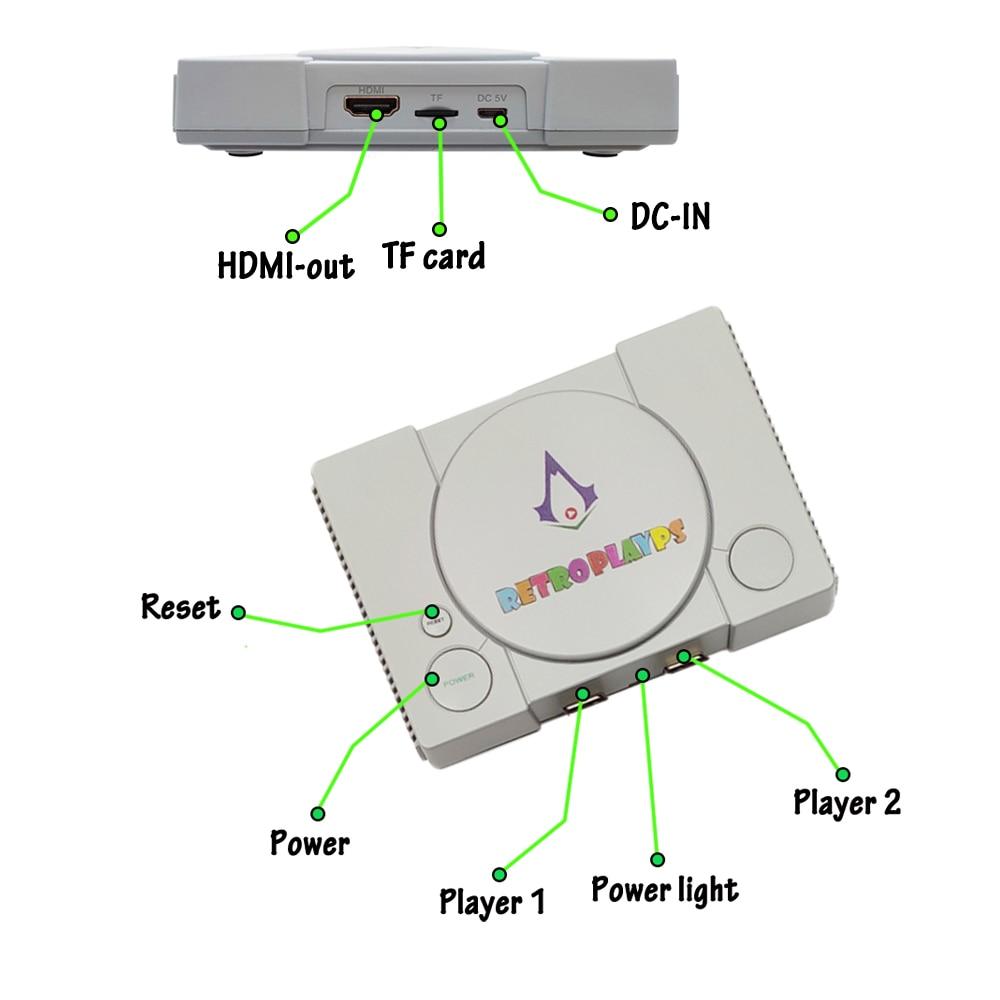 PSP סימולטורים 50 128 Bit רטרו לארוחת PSP עבור N64 עבור מחשבי כף-יד Gamepad קונסולת משחקי הווידאו PS1 10,000 משחקים שחקן ג