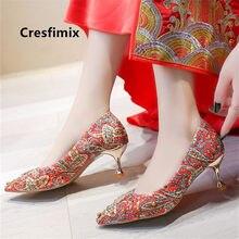Sapatos azul feminino bonito doce de alta qualidade confortável casamento vermelho sapatos salto alto senhoras clássico verão bombas frescas g9030