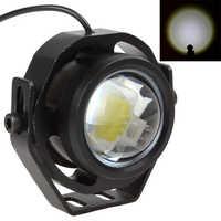 2 uds. De luces LED de 10W, 12V, 24V, luz antiniebla para coche DRL para motocicleta, camión, todoterreno, luz intermitente fuerte y débil Con 3 modos de conmutación