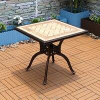 Tabela de alumínio do molde de 80x80cm com a tabela superior cerâmica da telha da resina para a mobília exterior da cadeira do jardim duráveis todo o tempo