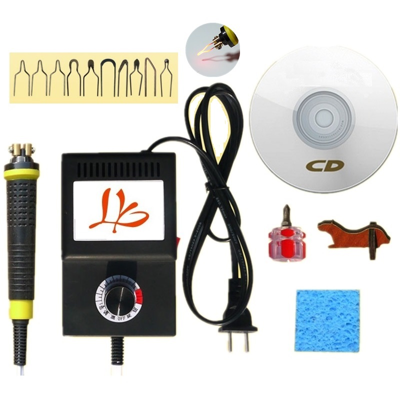 LY 25W Antiskid Solder Draw Pyrograph Kit With High Resistence Tip 220V EU Or 110V US Plug