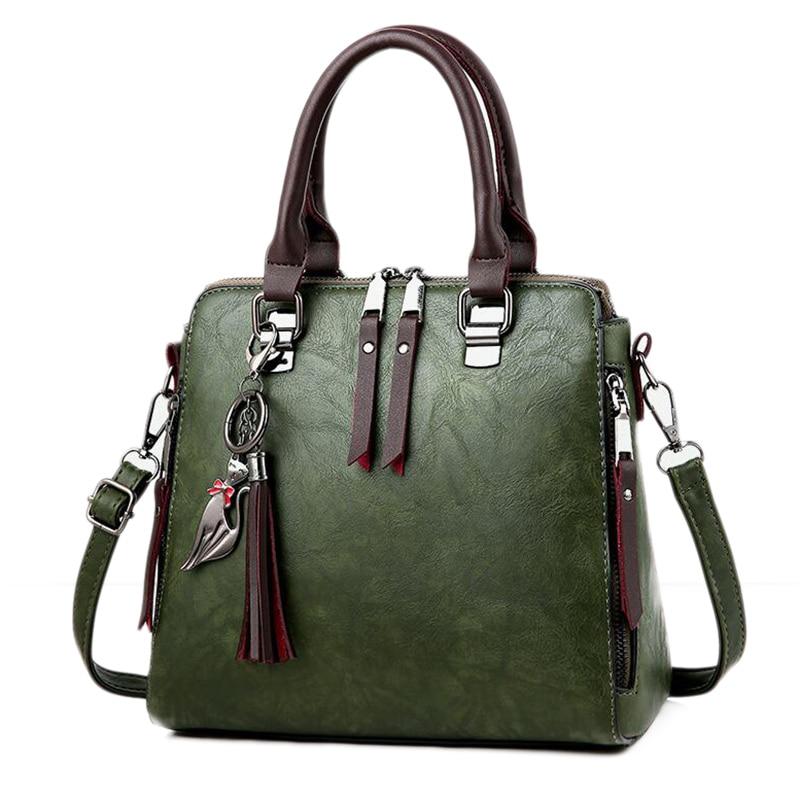 ABZC-Women Handbags High Quality Printing Women Bags Women PU Leather Shoulder Messenger Bags Sweet Tote Bag
