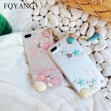 3D Beach Pearl Shell Case for Iphone  X XS MAX XR Fashion Tassel Lanyard TPU Cover 6 6S 7PLUS 8PLUS Ocean Coque