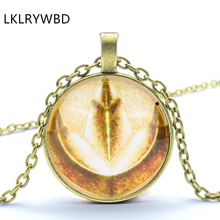 LKLRYWBD / Fashion Vintage Anchor Personality Pendant Necklace Round Glass