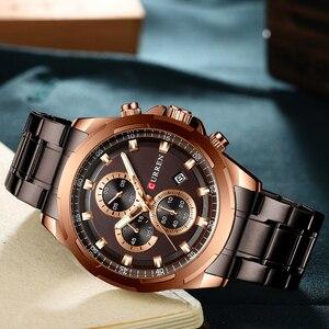 Image 4 - Najnowszy CURREN męskie zegarki Top marka luksusowy wojskowy stalowy zegarek sportowy dla człowieka męski wodoodporny męski zegar Relojes