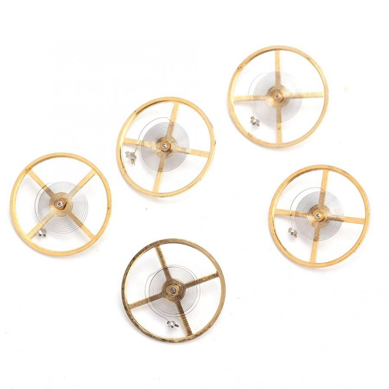 5Pcs Watch Repair Part Balance Wheel Replacement Accessory for 8205 Watch Movement Watch Part Watch Tool for Watchmaker