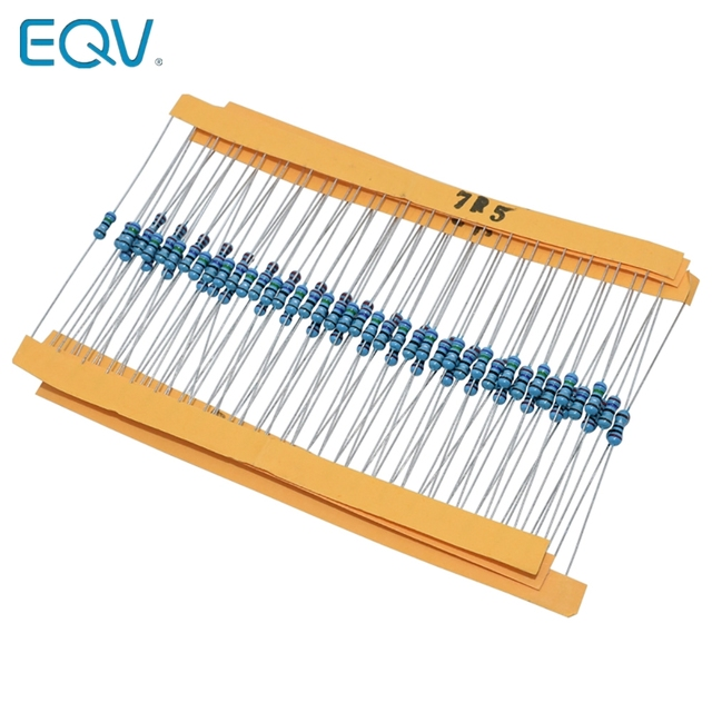 Dicrey Values Resistor Kit 1400 Pcs 1 Ohm Resistor 1//4W Metal Film Resistors Assortment with Storage Box for DIY Projects