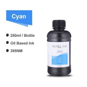 Image 4 - 6x250ml LED UV Tinte Flasche Für Epson L800 L805 L1800 R290 1390 1400 1410 4800 7800 4880 DX5 DX7 UV Drucker Tinte (BK C M Y WH WH)