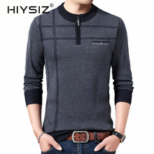 HIYSIZ Brand 2019 Autumn Casual Pullovers Men's Sweater O-Neck Striped Slim Fit Knittwear Mens Sweaters Pull Homme Hombre H3023 autumn fashion brand casual sweater o neck striped slim fit mens sweaters pullovers men pull homme contrast color knitwear