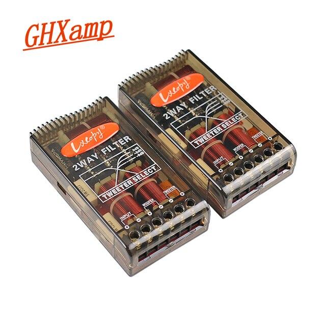 GHXAMP 80W 180W רכב מוצלב 2 דרך טרבל בס רמקול HIFI מסנן 2.8KHZ גבוהה סוף 2PCS