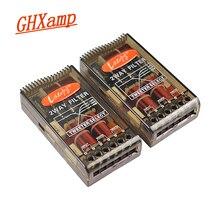 GHXAMP 80W 180W samochód Crossover 2 way Treble głośnik basowy filtr HIFI 2.8KHZ High end 2 sztuk