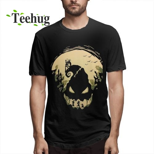 New Arrival Male Jack Skellington T Shirt Classic Nightmare Before Christmas Round Neck Design T-Shirt