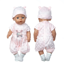 2021 Baby New Born Fit 18 inch Doll Clothes Accessories Coat And Socks One-piece Suit For Baby Birthday Gift